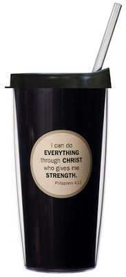 I Can Do Everything...Mug with Straw                      -