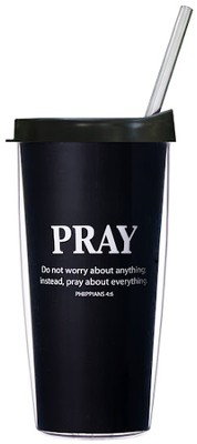 Pray About Everything...Mug with Straw                 -