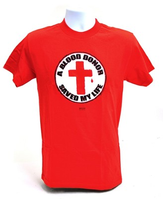 Blood Donor 2 Shirt, Red, XX Large  -