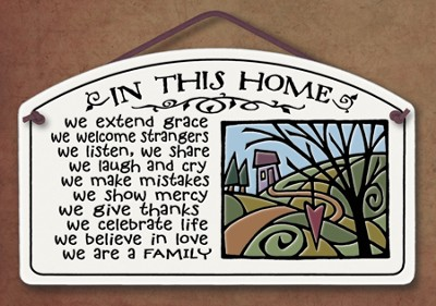 In This Home We Extend Grace Plaque  -