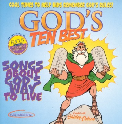 God's Ten Best: Songs About God's Way To Live CD   -