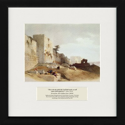 This Is the Day Which the Lord Hath Made (Psalm 118:24), Framed Art, 15 x 15  -     By: David Roberts