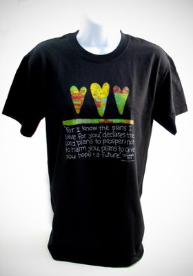 I Know The Plans Tee Shirt, Adult X-Large (46-48)  -     By: Holly Christine