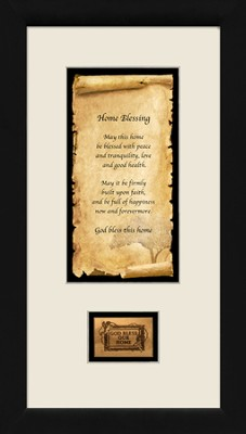 Home Blessing, Framed with Authentic Olivewood, 9 x 17  -