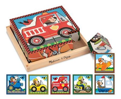 Vehicles Cube Puzzle  -