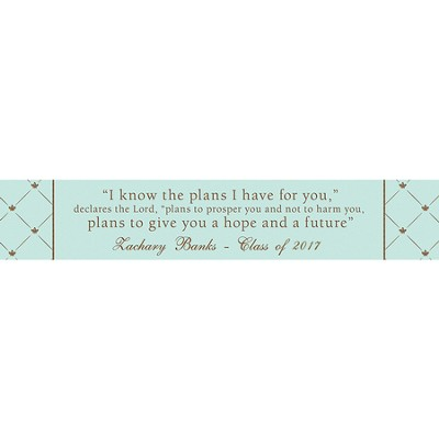 Personalized, I Know the Plans Long Desk Plaque, Blue   -