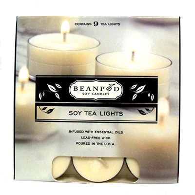 Cinnamon Bun Tea Lights, 9 Pack  -