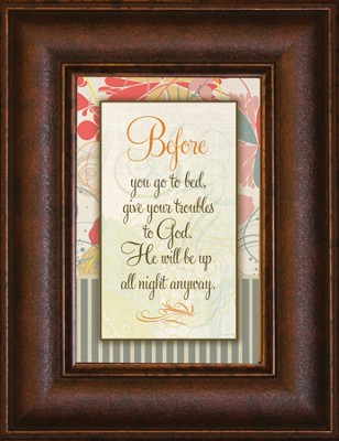 Before You Go to Bed Mini Framed Print  -
