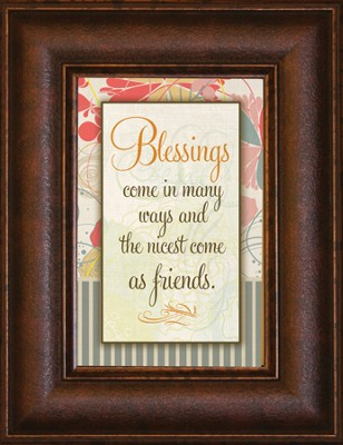 Blessings Come in Many Ways Mini Framed Print  -
