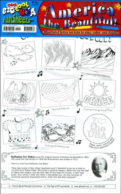 America the Beautiful FunSheet Pack of 30  -     By: Carole Marsh