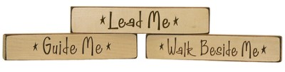 Lead Me, Guide Me, Walk Beside Me Plaques, Set of 3  -