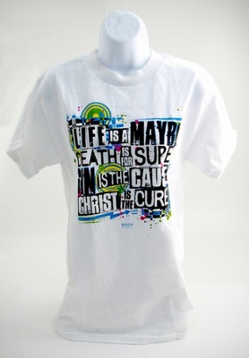 Christ Is The Cure Shirt, White, Extra Large  -