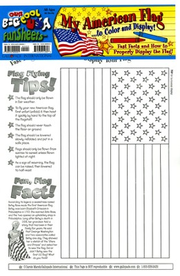 My American Flag FunSheet Pack of 30  -     By: Carole Marsh