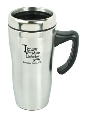 I Know the Plans Travel Mug with Handle  -