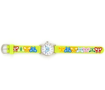 Butterfly Child's Watch, Green  -