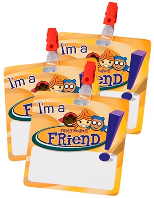 FaithWeaver Friends Name Badges, Package of 5   -