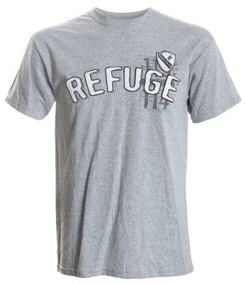Refuge Applique Shirt, Gray,   Large  -