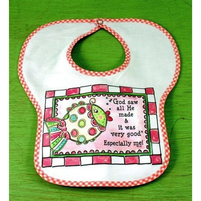 God Saw All He Made Bib, Pink  -
