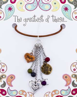 The Greatest of These Is Love Leather Necklace   -