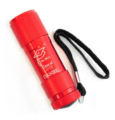 Personalized, Flashlight, Graduation, Red   -