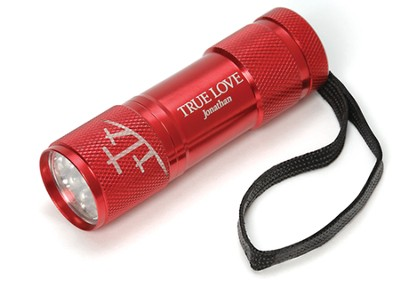 Personalized, True Love Flashlight, Red   -