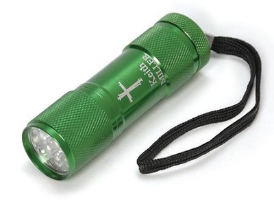 Personalized, Nail Cross Flashlight, Green   -