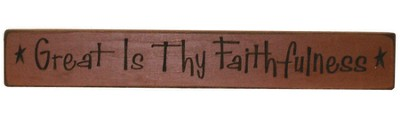Great is Thy Faithfulness Plaque, Red  -