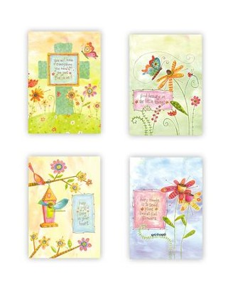 Whimsical Words Blank Notes, Box of 12   -     By: Lori Siebert