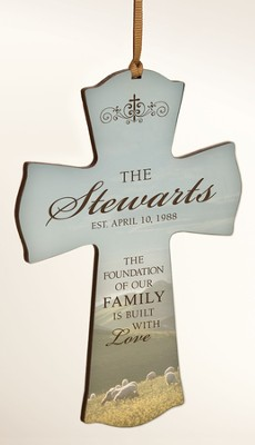 Personalized, Shepherd Cross Ornament, The foundation of Family  -