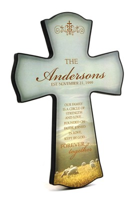 Personalized, Our Family Print Cross   -