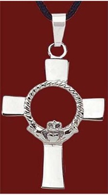 Stainless Steel Claddagh Cross  -