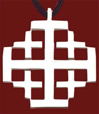 Stainless Steel Jerusalem Cross  -