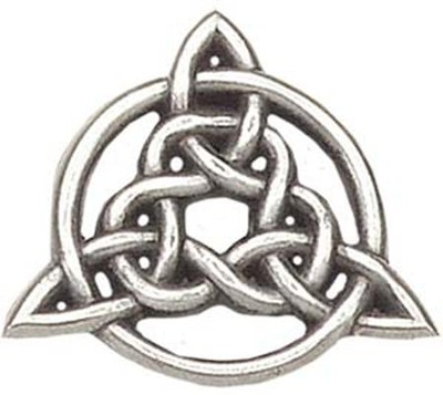 Circle Of Life Trinity Knot Pin  -