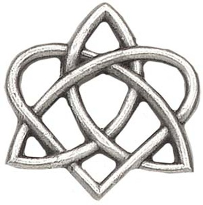 Celtic Trinity Heart Pin  -