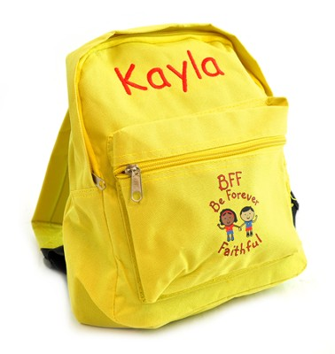 Personalized, BFF Be Faithful Kids Backpack   -
