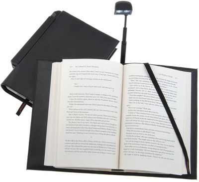 Periscope(R) Bookcover with Light, Large, Black   -