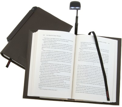 Periscope(R) Bookcover with Light, Large, Brown   -