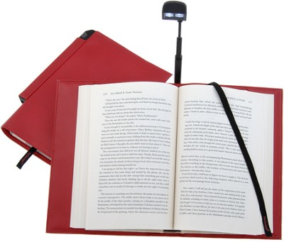 Periscope(R) Bookcover with Light, Large, Red   -