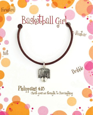 Basketball Necklace, Philippians 4:13   -