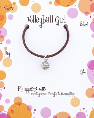Volleyball Necklace, Philippians 4:13  -