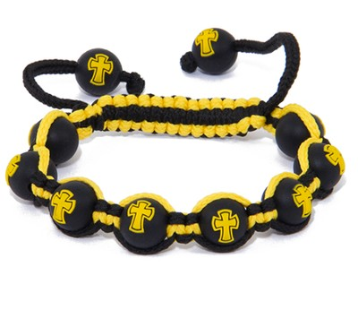 Cross Bead Bracelet, Yellow   -