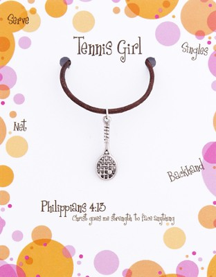 Tennis Necklace, Philippians 4:13  -