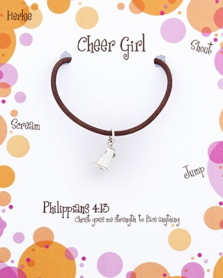 Cheering Necklace, Philippians 4:13  -