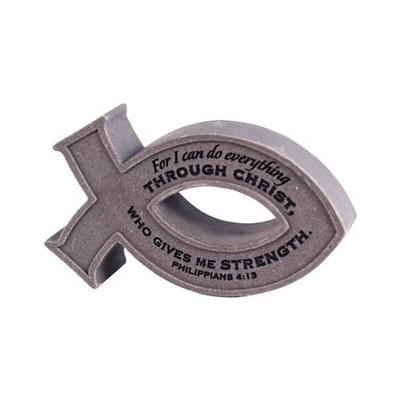 I Can Do Everything Through Christ Desktop Fish Plaque  -