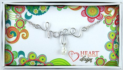 Twisted Wire Hope Necklace  -