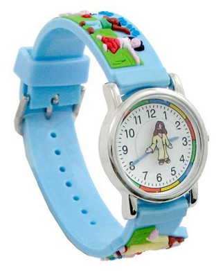 Jesus and the Children, Child's Watch, Blue  -