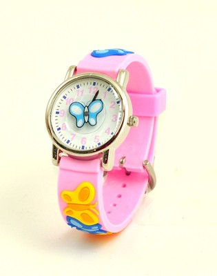 Butterfly Child's Watch, Pink  -