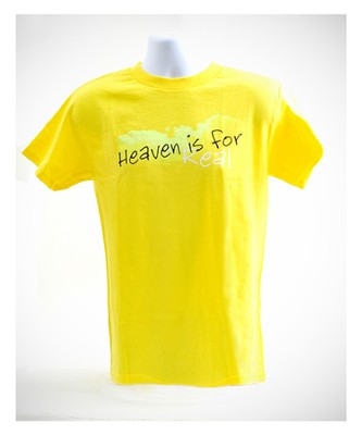 Heaven is For Real Shirt, Yellow, Youth Medium  -