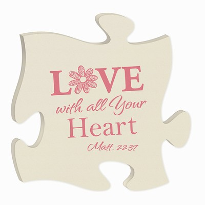 Love With All Your Heart, Puzzle Plaque  -