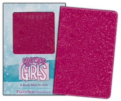 GOD'S WORD for Girls, Imitation leather, raspberry swirl  -